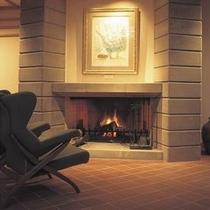 ◆ホテルロビー/暖炉※冬期間