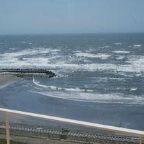 10階の展望テラスの太平洋