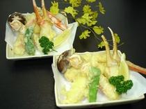 カニ天ぷら盛り