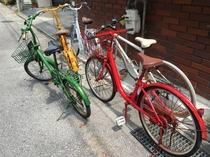 無料貸出自転車あります