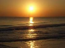 九十九里浜の夕景