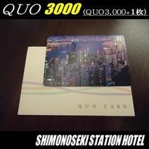 QUO3000付プラン