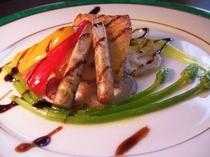 お魚料理 季節の野菜と白身魚のポワレ