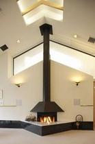 レストラン 暖炉