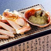 焼き蟹と蟹甲羅焼き