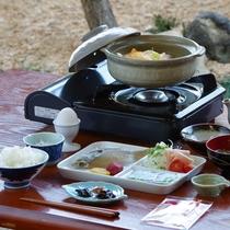 """*【""""自家製""""和朝食】手作りに拘った自慢の朝食です♪お庭が見える食事処にてご用意致します。"""