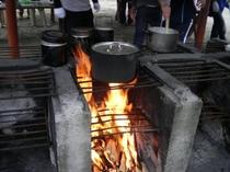 カレー作り 釜戸
