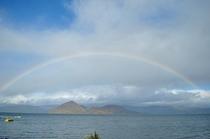 洞爺湖畔の虹