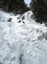 全面結氷の三本滝*