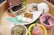 【春料理】前菜一例です。その時旬の物でお献立をたてています