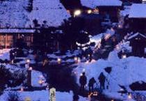 かやぶきの里雪灯廊を散策