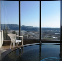 泡風呂からの眺め『晴れた日はとても気持ちがいいですよ♪』