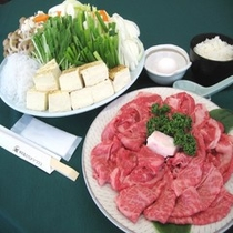 【すき焼きセット一例】やわらか〜いお肉を定番のすき焼きでどうぞ♪