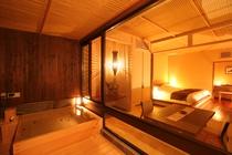 寝湯露天風呂付和のツイン