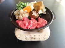 信州リンゴ牛の陶板焼き