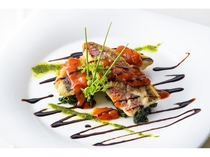 本日の魚料理 季節の野菜添え