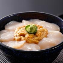 *レストランメニュー【昼夜】/山海スペシャル・生ウニと帆立貝丼(夏季限定)