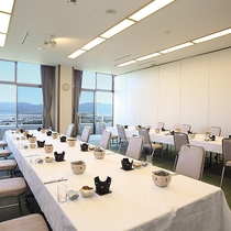*宴会場「萩」/和・洋のスタイルに設営が可能、カラオケもございます。※要問合せ