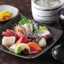 *レストランメニュー【昼】/刺身定食1,200円