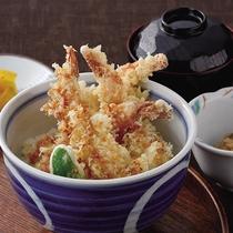 *レストランメニュー【昼】/海老天丼800円