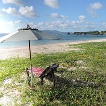 *プライベートビーチのような当館裏の海。のんびり寛いだりお散歩を楽しんだり・・・