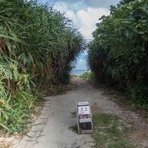 *宿のすぐ裏はビーチ♪水着に着替えてGO!お散歩もオススメです。