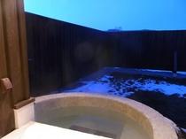 ラドン湯が楽しめる小さな露天風呂