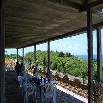 真夏のカフェ