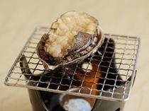 アワビの陶板焼き
