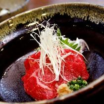 ≪馬刺し≫熊本阿蘇の肉厚な味覚!舌でトロり!