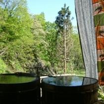 四季の移ろいを間近で。おけ露天風呂