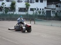テニスコート整備