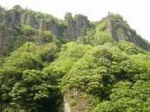 新緑の美しい立久恵峡
