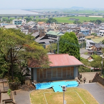 日奈久温泉神社から望む町並み