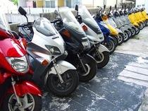 50cc〜250ccまでバイク多種あり