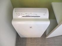空気清浄機(加湿機能付)は全室完備