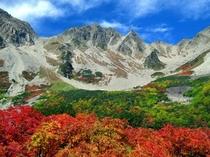 涸沢岳の紅葉