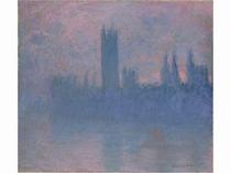 モネ「国会議事堂、バラ色のシンフォニー」