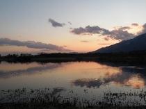 (周辺)近江舞子から内湖から比良山系を望む