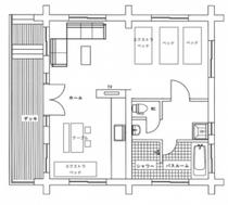 比良別邸の平面図