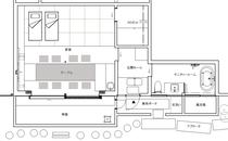 本館ハナレの平面図