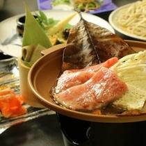 ☆料理_夕食_飛騨牛朴葉焼き (1)
