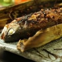 ☆料理_夕食_ニジマスの山椒蕎麦味噌焼き