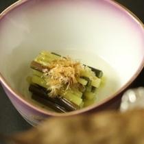 ☆料理_朝食_ふきとわらびの含め煮