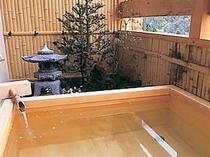 客室露天風呂檜