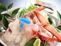 津居山かにのかに刺しと鮮魚のお造り