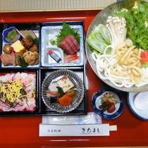 別館にておだしする夕食一例。