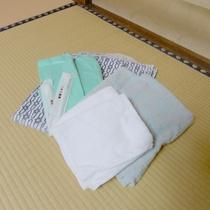 【アメニティ】歯ブラシ・タオル・バスタオル・浴衣をご用意しております。
