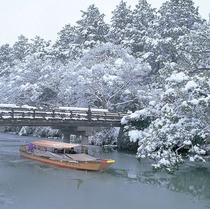 堀川遊覧船 冬