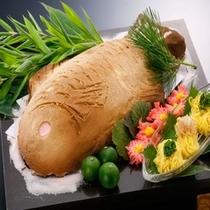 2011年秋メニュー。鯛の塩釜焼き。鯛素麺でどうぞ